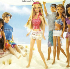 Barbie at beach